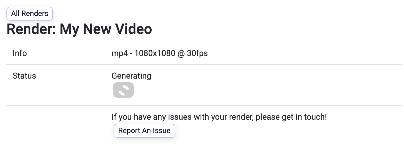 Create your first video - Step 8 Download Video Render