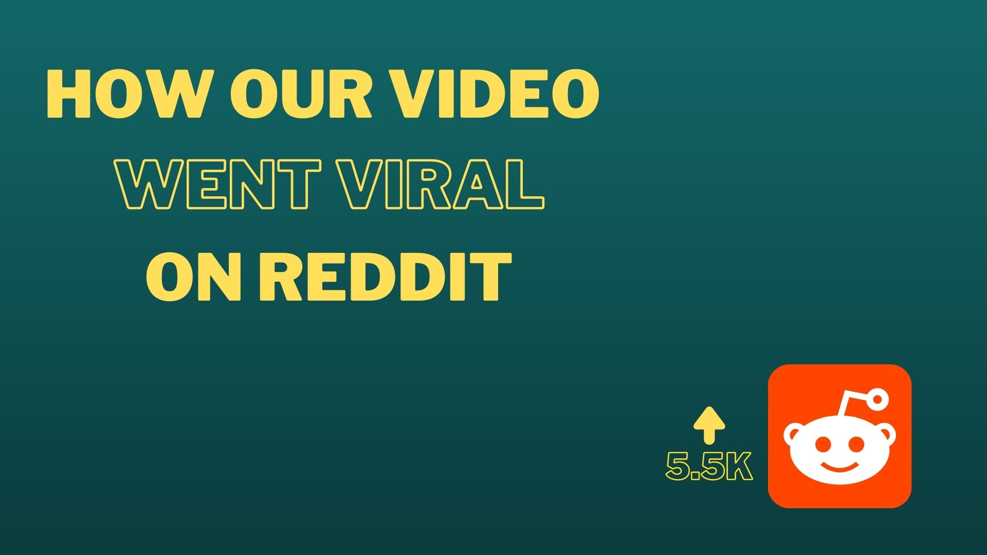 How our video went viral on reddit cover image