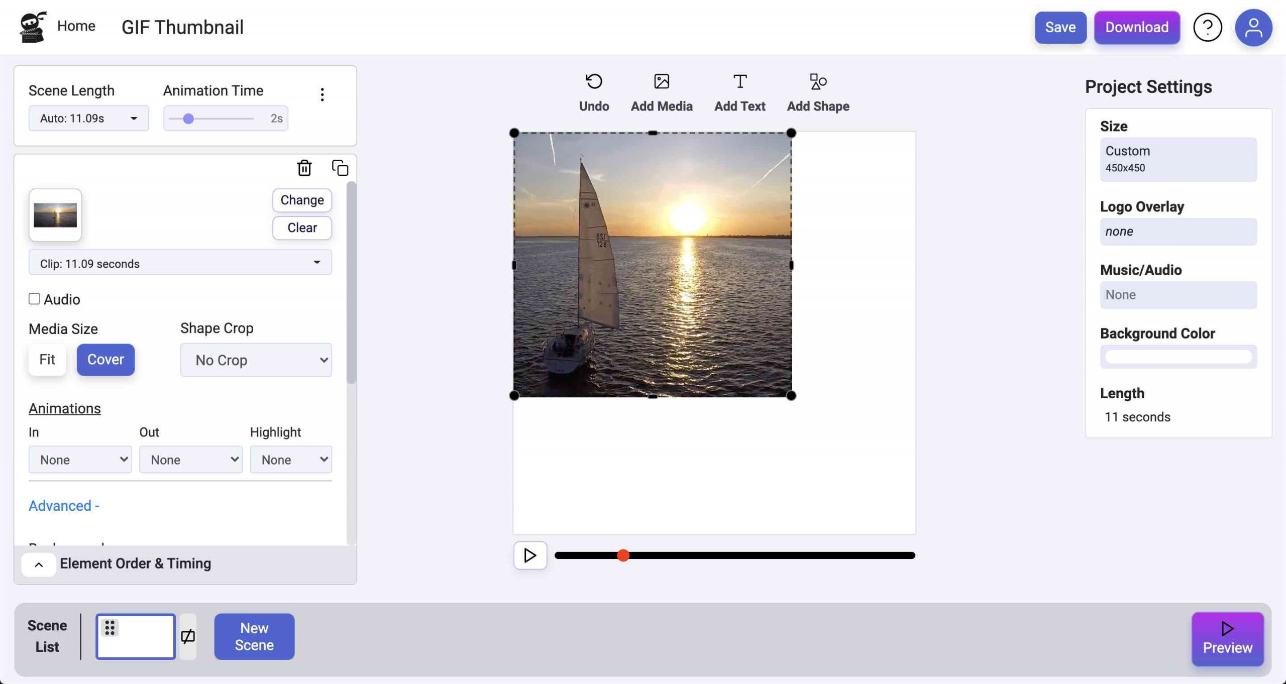 Resize Media Element Screenshot