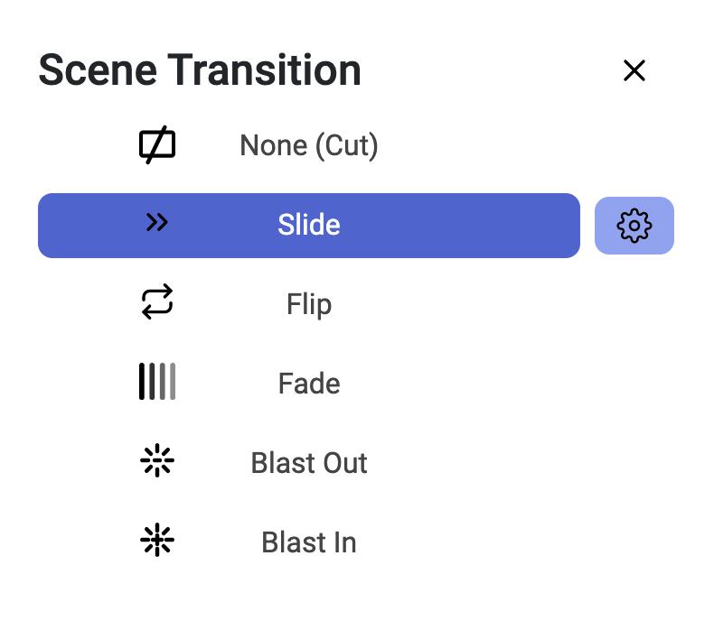 Select Scene Transition