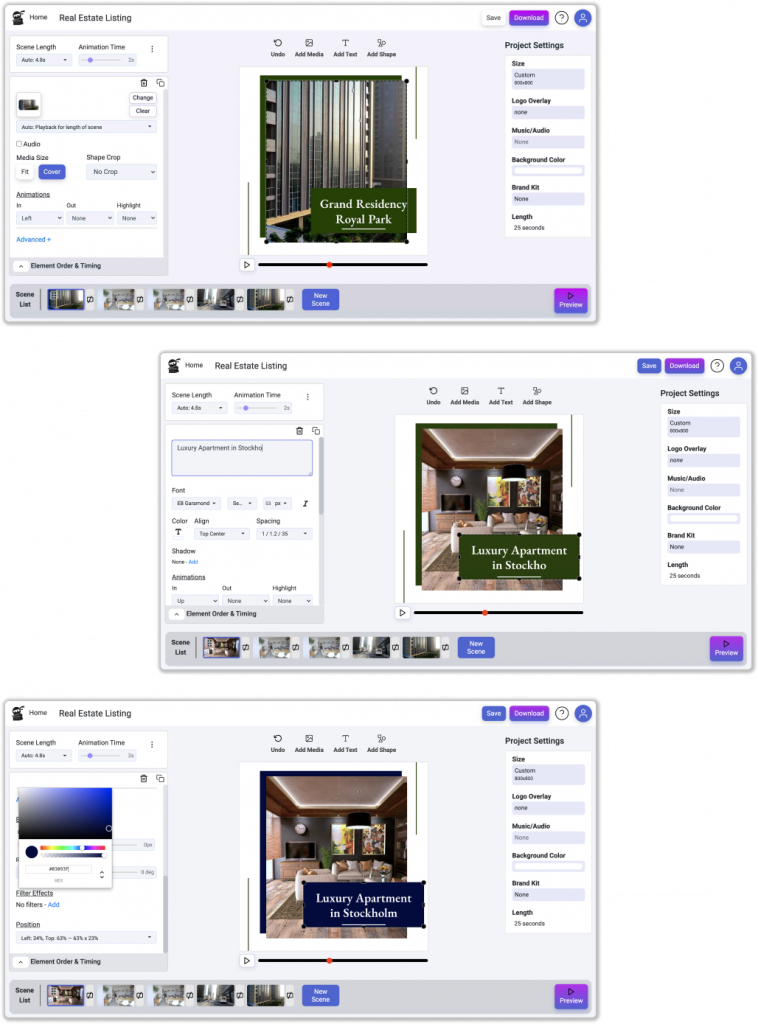 Real Estate Videos Section 2